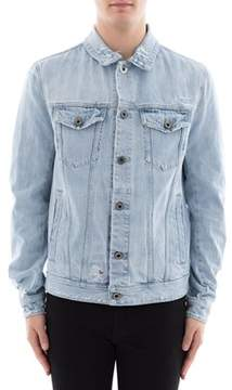 Diesel Black Gold Men's Light Blue Denim Outerwear Jacket.