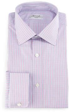 Charvet Check Barrel-Cuff Dress Shirt, Pink