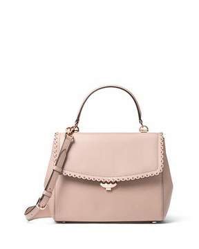 MICHAEL Michael Kors Ava Medium Saffiano Satchel Bag, Light Pink