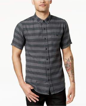 Ezekiel Men's Black Rock Striped Button-Up Shirt
