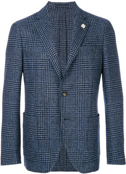 Lardini checked two button blazer