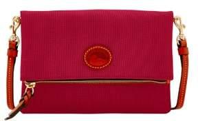 Dooney & Bourke Nylon Foldover Zip Crossbody Shoulder Bag - CRANBERRY - STYLE