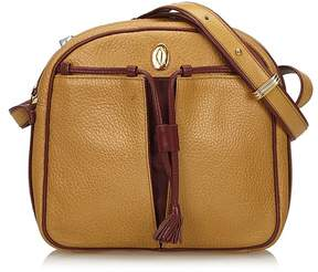 Cartier Vintage Leather Tasseled Must De Crossbody Bag