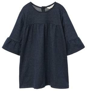 MANGO Micro printed plush dress