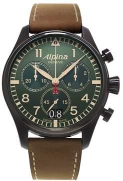 Alpina Startimer Pilot Big Date (Green Dial) 44 mm Mens Watch