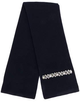 No.21 embellished knit scarf