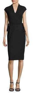 Escada Dwena Lace-Up Side Dress