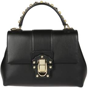 Dolce & Gabbana Lucia Studded Handle Tote - NERO - STYLE