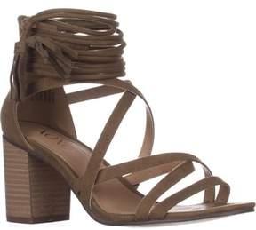 XOXO Elle Block-heel Ankle-strap Sandals, Olive.