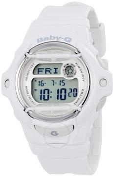 Casio Baby G White Resin Digital Ladies Watch