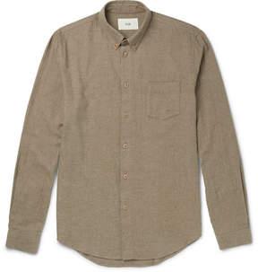 Folk Slim-Fit Button-Down Collar Brushed-Cotton Twill Shirt