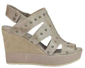 Car Shoe Women's Grey Leather Wedges.