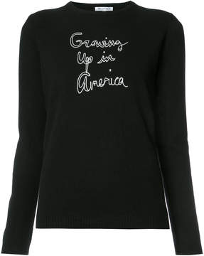 Bella Freud cashmere Growing Up in America jumper
