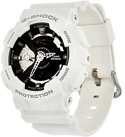 Casio G-Shock Women's Analog Digital Black on White Resin Watch