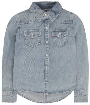 Levi's Girls 4-6x Acid Washed Western Denim Top