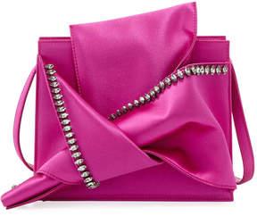 No.21 No. 21 Satin Jeweled Small Shoulder Bag