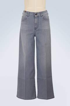 Atelier Notify Silene wide-leg cropped jeans