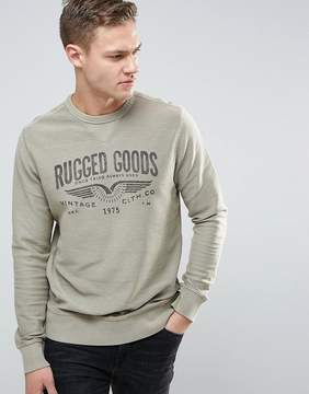 Jack and Jones Vintage Sweatshirt with Graphic Print
