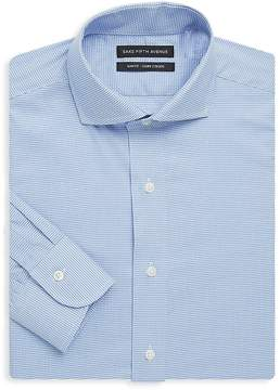 Saks Fifth Avenue BLACK Men's Slim-Fit Gingham Cotton Dress Shirt