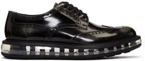 Prada Black Rubber Sole Brogues