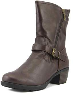 Khombu Mae Women Round Toe Synthetic Brown Ankle Boot.