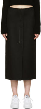 Calvin Klein Collection Black Cashmere Haokin Skirt