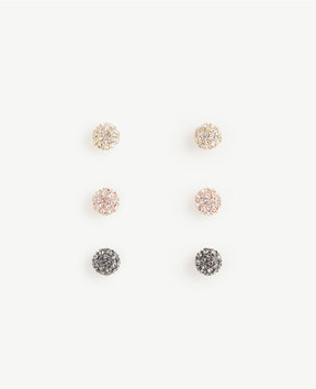 Ann Taylor Pave Ball Stud Earring Set