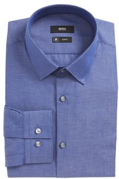 BOSS Men's Isko Slim Fit Geometric Dress Shirt