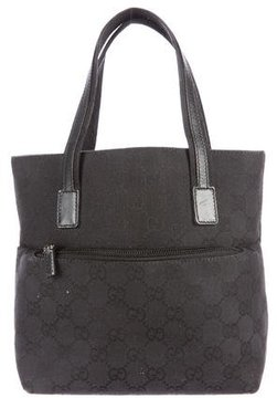 Gucci GG Mini Canvas Tote - BLACK - STYLE