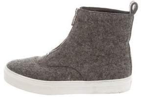 Celine Woven High-Top Sneakers