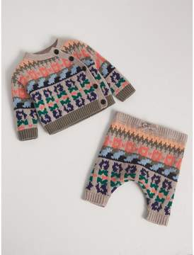 Burberry Fair Isle Wool Cashmere Two-piece Baby Gift Set