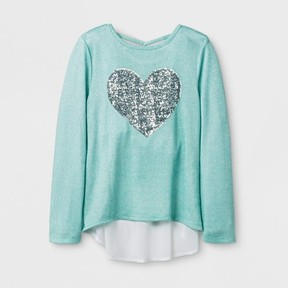 Miss Chievous Girls' Long Sleeve Top - Mint