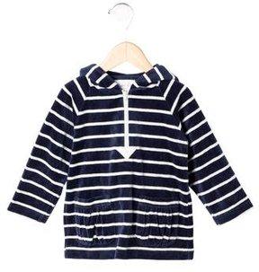 Rachel Riley Girls' Hooded Velvet Sweater