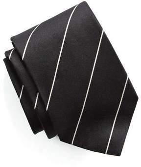 Drakes Drake's Black Silk Stripe Tie