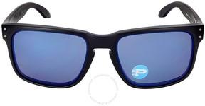 Oakley Holbrook Sunglasses - Matte Black/Blue Polarized