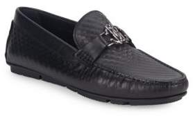 Roberto Cavalli Textured Leather Loafers