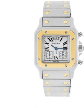 Cartier Santos Stainless Steel & 18K Yellow Gold 30mm Watch