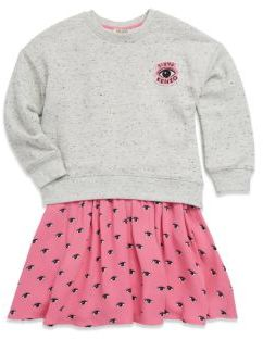 Kenzo Toddler's, Little Girl's & Girl's 2-in-1 Dress with Sweater