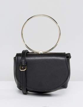 Asos Ring Detail Saddle Cross Body Bag