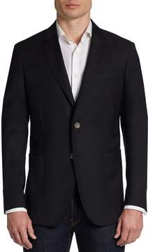 Saks Fifth Avenue BLACK Men's Slim-Fit Wool Two-Button Blazer