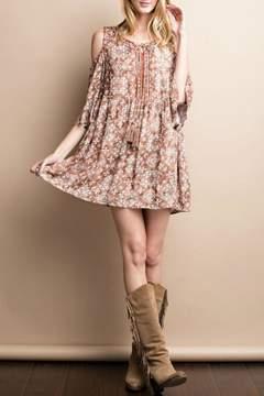 Easel Cold Shoulder Dress