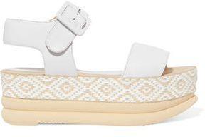 Paloma Barceló Talia Woven Leather Platform Sandals