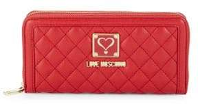 Love Moschino Logo Zip-Around Wallet