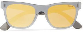 RetroSuperFuture Tuttolente Square-frame Acetate Mirrored Sunglasses - Gold