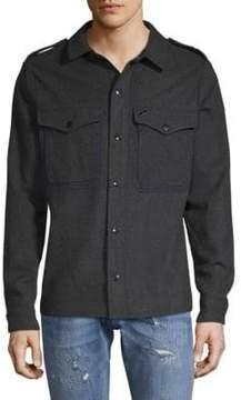 Scotch & Soda Wool-Blend Casual Button-Down Shirt