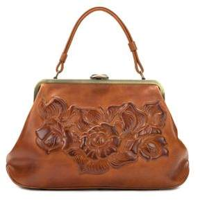 Patricia Nash Floral Embossed Leather Satchel