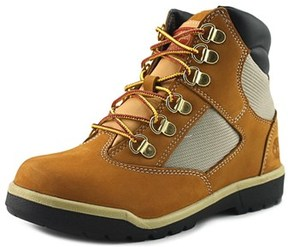 Timberland B Youth Round Toe Leather Tan Work Boot.