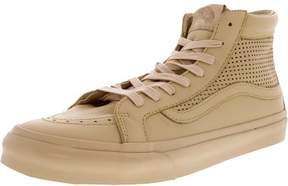 Vans Men's Sk8-Hi Slim Cutout Square Perf Amberlight High-Top Suede Skateboarding Shoe - 10M