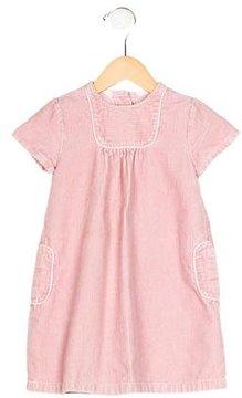 Petit Bateau Girls' Short Sleeve Corduroy Dress
