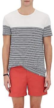 Orlebar Brown Men's Sammy Striped Cotton-Linen T-Shirt